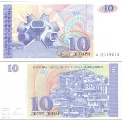 اسکناس 10 دینار - مقدونیه 1993