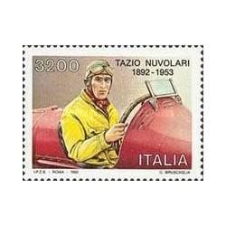 1 عدد تمبر صدمین سال تولد تازیو نولاری - راننده مسابقات اتومبیل رانی - ایتالیا 1992 قیمت 5.3 دلار