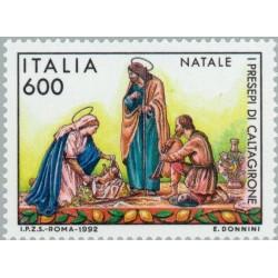1 عدد تمبر کریستمس  - ایتالیا 1992