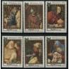 6 عدد تمبر کریستمس - نقاشی بزرگان اثر بروگل -   منامه 1969
