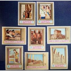 8 عدد تمبر 2500مین سال پادشاهی ایران  - ام القوین 1972