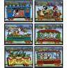 6 رقم از 8 تمبر سری کریستمس - کاراکترهای والت دیسنی - سنت وینسنت 1988