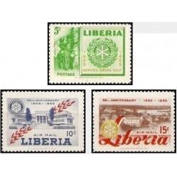 3 عدد تمبر پنجاهمین سالگرد روتاری بین المللی -لیبریا 1955