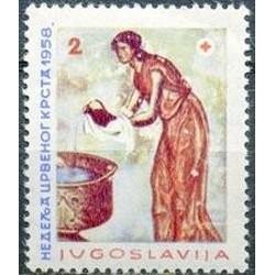 1 عدد تمبر صلیب سرخ - یوگوسلاوی 1958