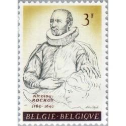 1 عدد تمبر یادبود شهردار نیکولاس روکوکس - بلژیک 1961