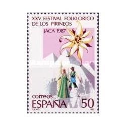 1 عدد تمبر 25مین سال فستیوال سنتی در پیرنه - اسپانیا 1987