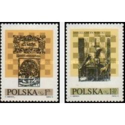 2 عدد تمبر دهمین فستیوال بین المللی شطرنج در لوبلین - لهستان 1974