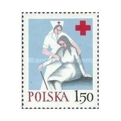 1 عدد تمبر صلیب سرخ  -  لهستان 1977