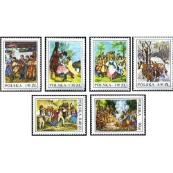6 عدد تمبر گروه هابیتهای لهستان -  لهستان 1977