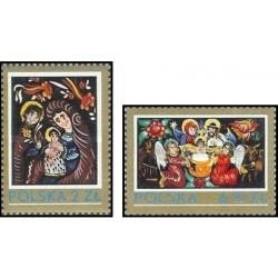2 عدد تمبر کریستمس -  لهستان 1979