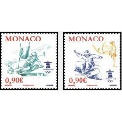 2 عدد تمبر المپیک زمستانی ونکور کانادا - موناکو فرانسه 2009 ارزش روی تمبر 1.8 یورو