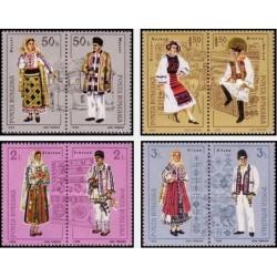 8 عدد تمبر لباسهای محلی - رومانی 1985