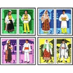 8 عدد تمبر لباسهای محلی - رومانی 1987