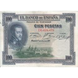 اسکناس 100 پزوتا - اسپانیا 1925 با کیفیت خوب