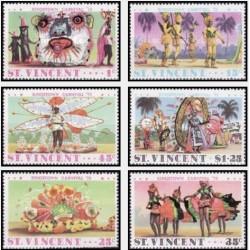 6 عدد تمبر کارناوال درگینگزتاون - سنت وینسنت 1975