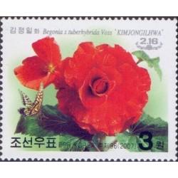 1 عدد تمبر 65مین سالگرد تولد کیم جونگ ایل - کره شمالی 2007