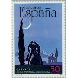 1 عدد تمبر فستیوال بین المللی رقص و موسیقی ، گرنادا - اسپانیا 1988