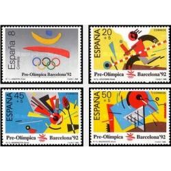4 عدد تمبر بازیهای المپیک سئول ، کره جنوبی - اسپانیا 1988
