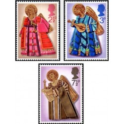 3 عدد تمبر کریستمس - برجسته - انگلیس 1972