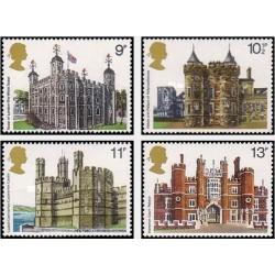 4 عدد تمبر معماری انگلیسی - انگلیس 1978