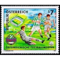 1 عدد تمبر راپید وین قهرمان فوتبال اتریش - اتریش 1997