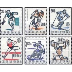 6 عدد تمبر حوادث ورزشی سال 63 - چک اسلواکی 1963