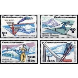 4 عدد تمبر مسابقات اسکی قهرمانی جهان - چک اسلواکی 1970