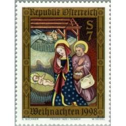 1 عدد تمبر کریستمس - اتریش 1998