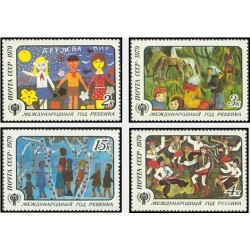 4 عدد تمبر سال بین المللی کودک - شوروی 1979