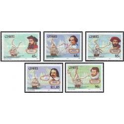 5 عدد تمبر کاشفان نامدار - سیسکی آفریقای جنوبی 1993 قیمت 7 دلار