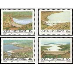 4 عدد تمبر سدها - بوتسوانا آفریقای جنوبی 1988