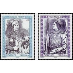2 عدد تمبر پرتره تاریخی از فرمانروایان لهستان - لهستان 1994