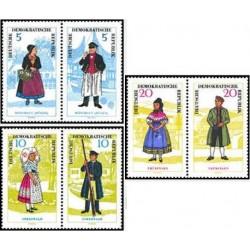 6 عدد تمبر لباسهای محلی - جمهوری دموکراتیک آلمان 1964 قیمت 30 یورو