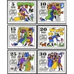 6 عدد تمبر داستانهای دنباله دار  - جمهوری دموکراتیک آلمان 1969