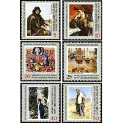 6 عدد تمبر تابلوهای نقاشی روسی - جمهوری دموکراتیک آلمان 1969