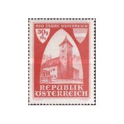 1 عدد تمبر 950 سالگی کلیسای سنت روپرشت - اتریش 1946