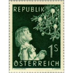 1 عدد تمبر کریستمس - اتریش 1953