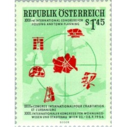 1 عدد تمبر 23مین کنگره بین المللی برنامه ریزی شهری - اتریش 1956 قیمت 3.3 دلار