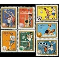 7 عدد تمبر بازیهای المپیک لوس آنجلس- نیکاراگوئه 1984
