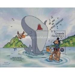 سونیرشیت کریستمس - شخصیتهای کارتونی والت دیسنی - گرندین گرانادا 1986  قیمت 5.6 دلار