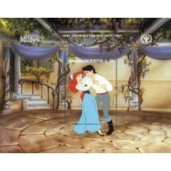 سونیرشیت سال بین المللی سواد آموزی - صحنه هایی از کارتون پری دریائی کوچک -والت دیسنی -دومنیکا 1991