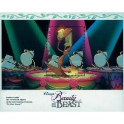سونیرشیت کارتون دیو و دلبر -  والت دیسنی -  سنت وینسنت 1992 قیمت 5.6 دلار