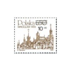 1 عدد تمبر سری پستی - سورشارژ - افق وروکلاو - لهستان 1982