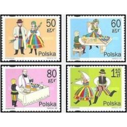 4 عدد تمبر سنن عید پاک  - لهستان 1997