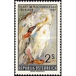 1 عدد تمبر نمایشگاه هنر - تابلو - اتریش 1967