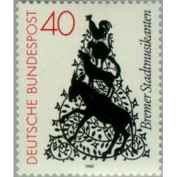 1 عدد تمبر داستان دنباله دار برادران گریم - جمهوری فدرال آلمان 1982