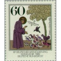 1 عدد تمبر 800مین سال تولد فرانس مقدس- جمهوری فدرال آلمان 1982