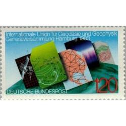 1 عدد تمبر کنگره جغرافی و جغرافیدانان - جمهوری فدرال آلمان 1983