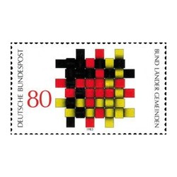 1 عدد تمبر ایده های اساسی دموکراسی - جمهوری فدرال آلمان 1983 قیمت 2.2 دلار