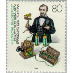 1 عدد تمبر 150مین سال تولد فلیپ ریس - مخترع - جمهوری فدرال آلمان 1984